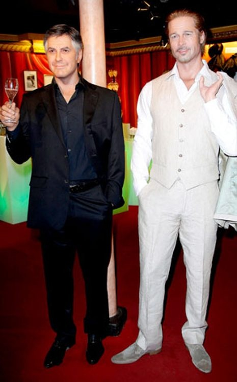 Brad Pitt, George Clooney Wax Figures