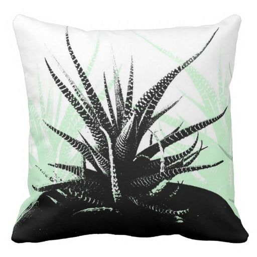 Cactus - art on Throw Pillow http://www.zazzle.com/cactus_throw_pillow-189056475129150211  #cactus #plants #cushions #zazzle #homeware