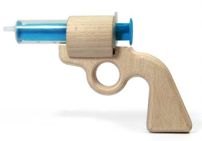 Wooden water pistol