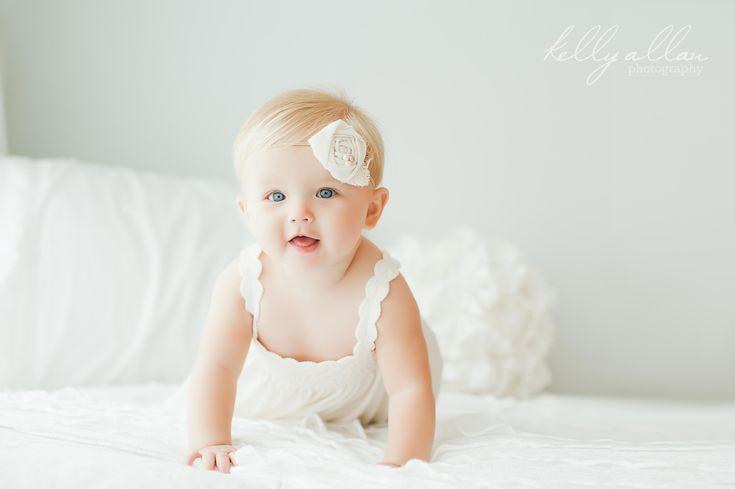 6 month old portrait session beautiful child yakima wa baby photography