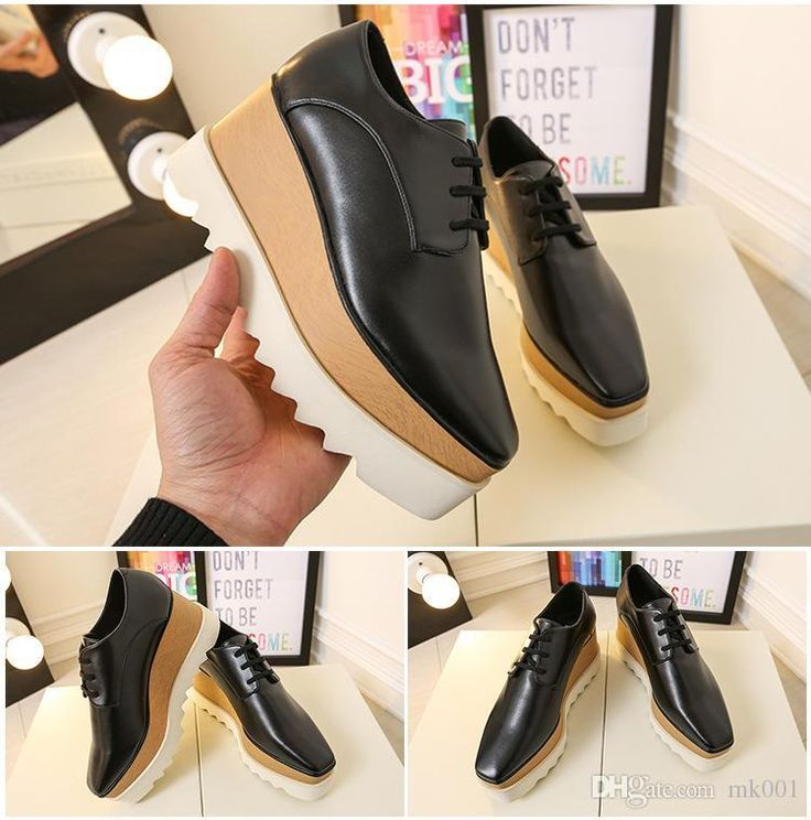 Stella Sneakers Elyse Platform Shoes Wedge Britt Lace Up Slyse Star Faux Leather Wedge Heel Round Toe Derby Shoes Dress Shoes For Men Leather Shoes From Amyleeok, $109.55| Dhgate.Com
