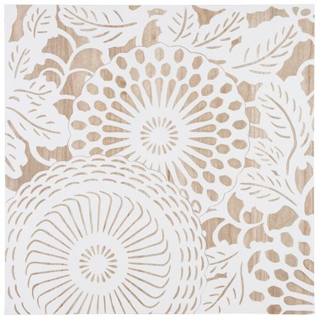 Summer Lace Wood Carving 70x70cm Set of 2 | Freedom Furniture and Homewares