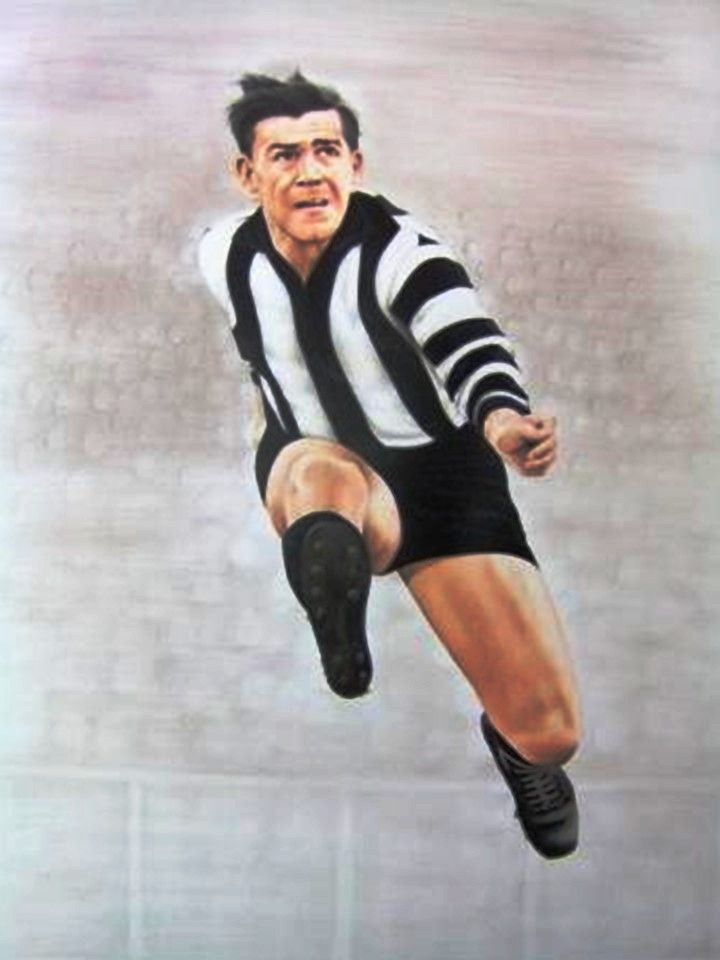 Lou Richards. Played 1941-1955. Games Collingwood 250. Premiership captain 1953.