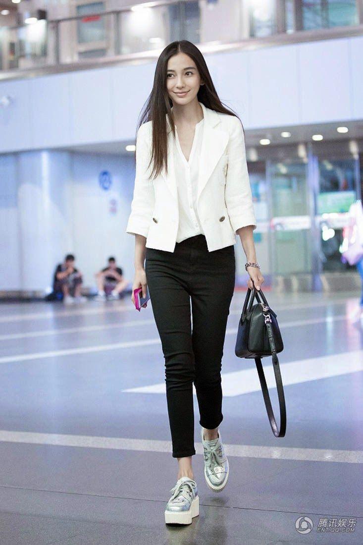 Shots Of Angelababy China Entertainment News Korean Celebrities In Pants Pinterest