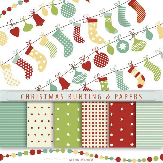 red and green digital christmas paper - Google Search