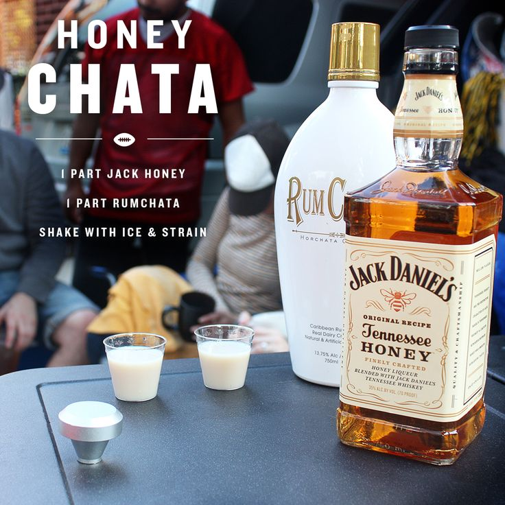 Jack Honey meets RumChata. A win-win mixed shot for this week's games. #JackHoney #RumChata #JackFire #tailgate #cocktails
