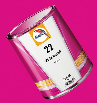 Glasurit Reihe 22 - 2-Komponentendecklack für Uni-Farbtöne.