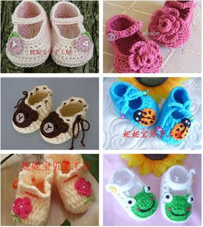 699fe00d1e4f 2019 FLOWER BABY CLOTHES BOOTIES SHOES MARY JANE 0 12 MONTHS CROCHET  Handmade Infant Baby Shoes From Santi