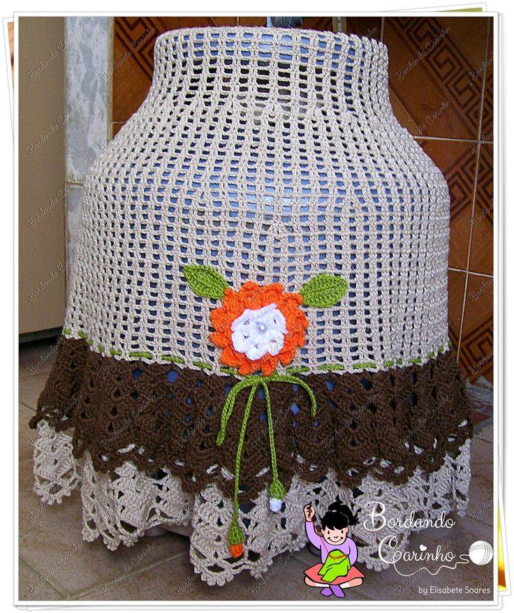 Bordando Carinho ♥: Capa de Botijão de Crochê