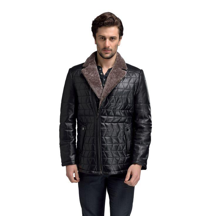 AIBIANOCEL Genuine Leather Coat Men Shearling Jacket Turn Down Collar Fur Liner Genuine Leather Jacket Male Real Leather Jacket
