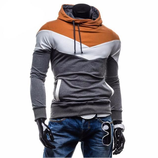 John'sBakery 2017 New Brand Hoodies Men Sweatshirt Male Stitching Hooded Hip Hop Long Sleeve Sweatshirt Men Silm Hoodies Outwear