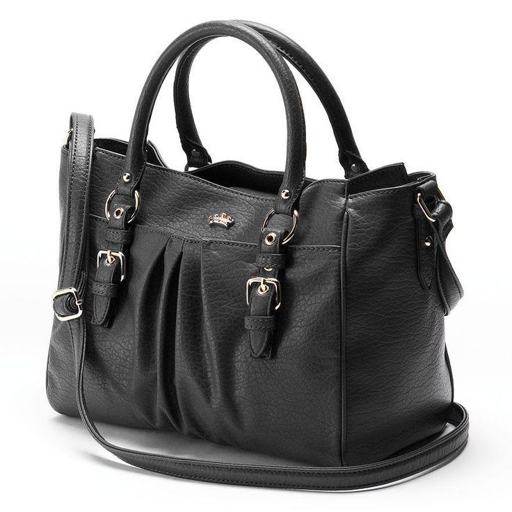 NWT Authentic Juicy Couture WOMEN'S Madison Large BLACK Satchel Handbag #JuicyCouture #Satchel