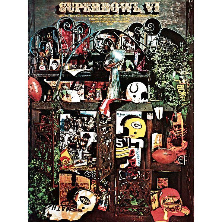 "Fanatics Authentic 1972 Cowboys vs. Dolphins 36"" x 48"" Canvas Super Bowl VI Program - $159.99"