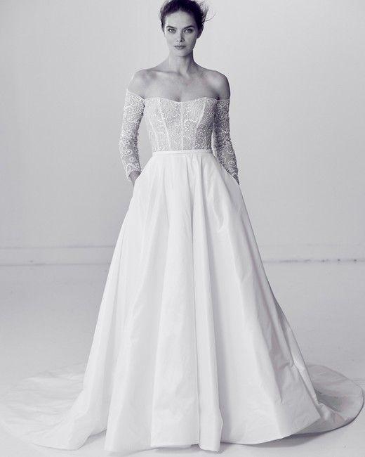 Unique Alyne by Rita Vinieris Spring Wedding Dress Collection Martha Stewart Weddings u Off