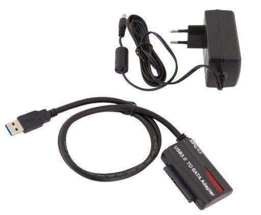 AK274 ADAPTER USB 3.0 DO SATA 3,5' 2,5' DYSK HDD