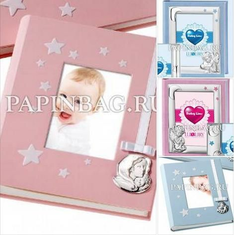 """Фотоальбомы для новорожденных подарочные """"Мой первый год"""" С особой гордостью мы предлагаем восхитительные по красоте и изяществу детские фотоальбомы с посеребрением производства Италии http://papinbag.ru/?&m=1239&mode=all"""
