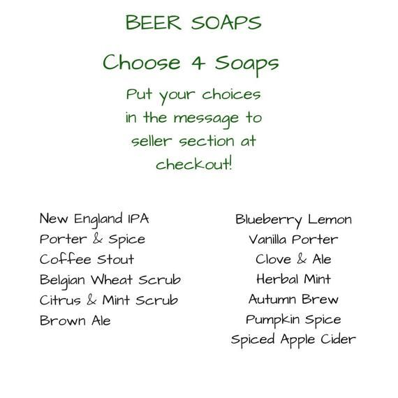 Beer Lover Gifts for Men, Anniversary Gifts for Him, Beer Gift, Bar Soap Gift, Homemade Soap Gifts,