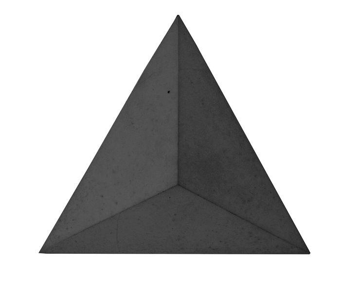 Płytka 3D Pyramids - Antracytowa - zdjęcie od Bettoni - Beton Architektoniczny - Wnętrza publiczne - Styl Nowoczesny - Bettoni - Beton Architektoniczny