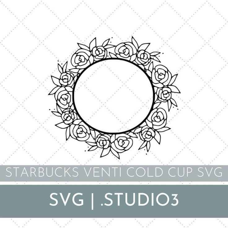 Floral Starbucks Cup SVG Starbucks Cold Cup svg file