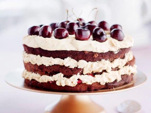Suklaa-kirsikkakakku - Chocolate cherry cake -