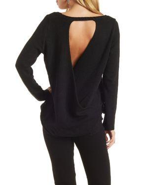 Open Back Scoop Neck Sweater #CharlotteLook