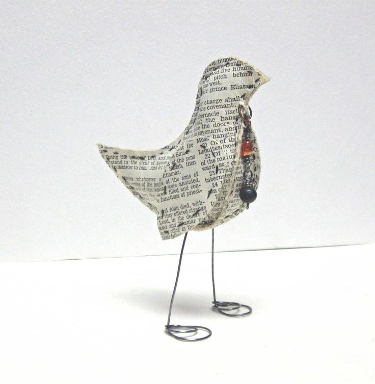 MIxed Media Paper BirdBirds Birds, Crafts Ideas, Art Inspiration, Media Art, Paper Birds, Media Paper, Crafts Birds, Paper Crafts, Collage Mixed Media