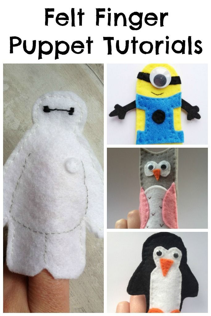 Free Felt Finger Puppet Patterns - Crafts on Sea