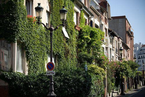 Quartier la Campagne à Paris dans le 20e arrondissement