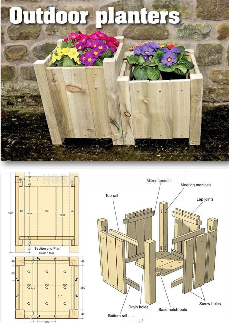 Outdoor Planter Plans - Outdoor Plans and Projects | WoodArchivist.com