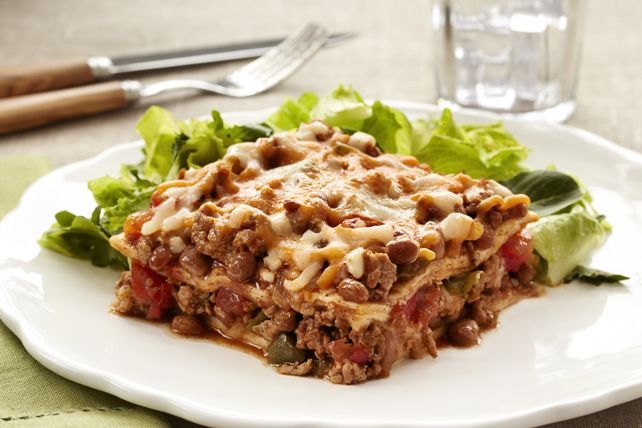 Try this Quick Mexican Tortilla Lasagna for a fun twist from regular lasagna. And with no noodles to boil, this delicious lasagna can be assembled and ready to bake in less than 30 minutes.
