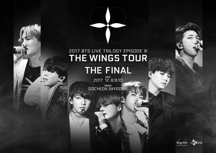 2017 BTS LIVE TRILOGY EPISODE Ⅲ THE WINGS TOUR THE FINAL 티저 포스터  #방탄소년단 #BTS #THEWINGSTOUR_THEFINAL