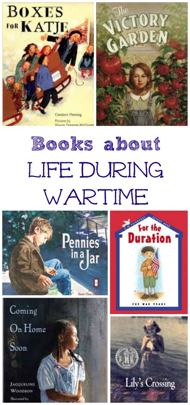 Kids picture & chapter books about wartime experiences.  These are a great way to help kids understand what children went through during war.
