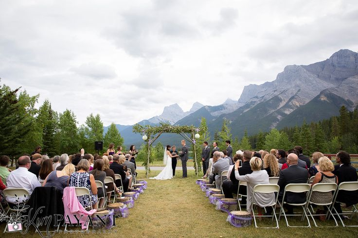 Banff Canmore Lake Louise Calgary Rocky Mountain Wedding: Canmore Nordic Centre Outdoor Wedding Ceremony, Canmore