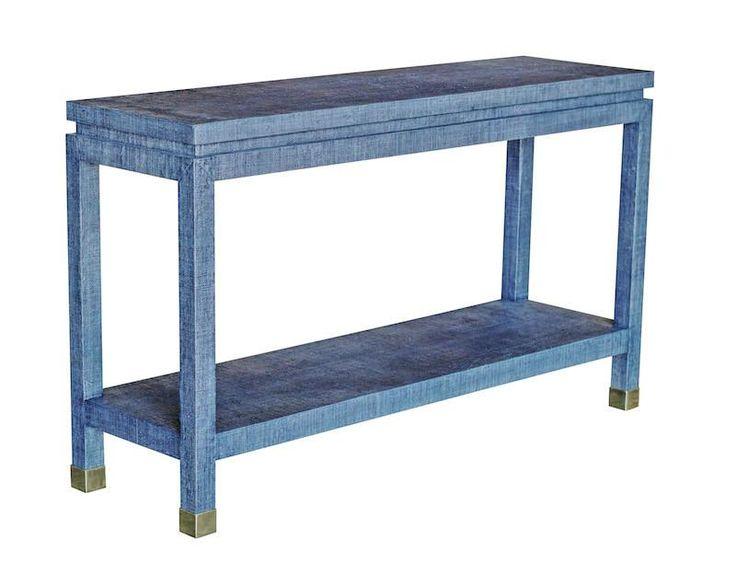 Ming Raffia Console Navy We Make Furniture Modern