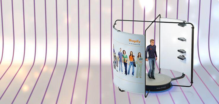 Artec Group leader du scanner 3D lance sur Shapify Me : le scanner Artec Shapify Booth : un scanner corporel 3D. Vous imprimez votre image 3D en une figurine du 1/20ème au 1/12ème. ||| http://www.trendhunter.com/trends/print-yourself