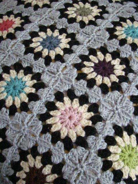 Granny Squares by Lady Colori, via Flickr