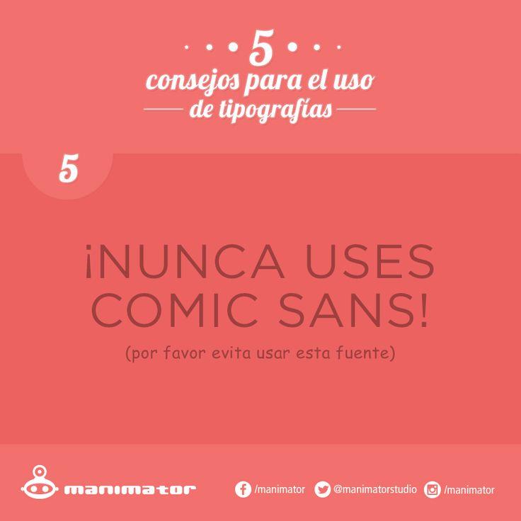 Consejos para el uso de tipografías #5.