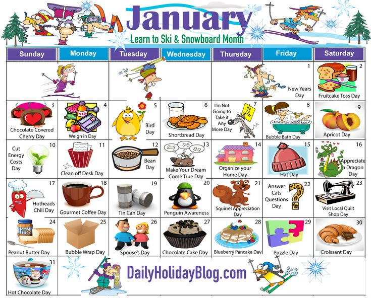 New January Holiday calendar is available now!