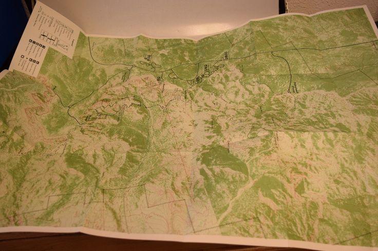 Unused Bryce Canyon Utah Hiking Map The Silent City EBay
