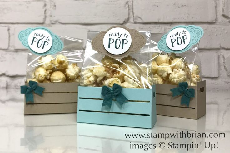 Wood Crate Framelits, Ready to Pop, Baby Shower Favors, Stampin' Up!, Brian King