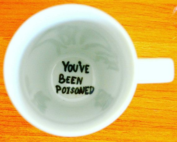 Halloween Table Decor // Funny Coffee Mug // You've Been Poisoned // Spider Web…