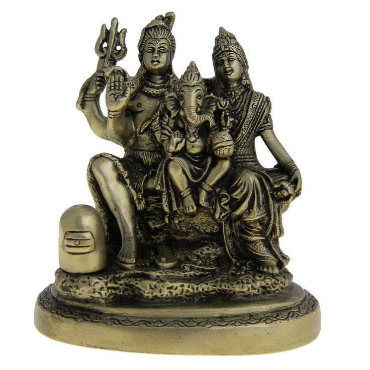 Amazon.com: Shiva Statue with Family Statues and Sculptures Made in Brass 5 X 2.75 X 5..75 Inches: Home & Kitchen