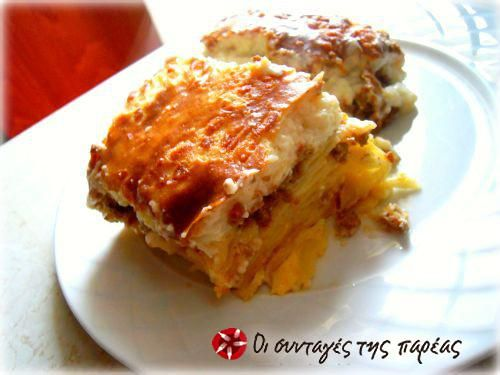 Rich pastitsio #cooklikegreeks #pastitsio #pasta #groundmeat