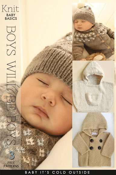 Needlecrafts - Knit Baby - Boys Will Be Boys As the name in the title implies, the adorable free patterns featured ...