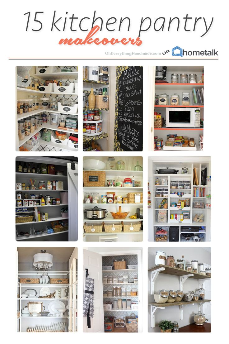 These 15 kitchen pantry makeovers will give you the inspiration you need to organize your messy pantry!