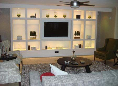 Gypsum Wall Unit Fireplace Design Company in Dhaka, Bangladesh