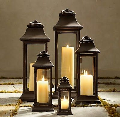 Candle Lanterns..someone has been to Homegoods or Marshall's