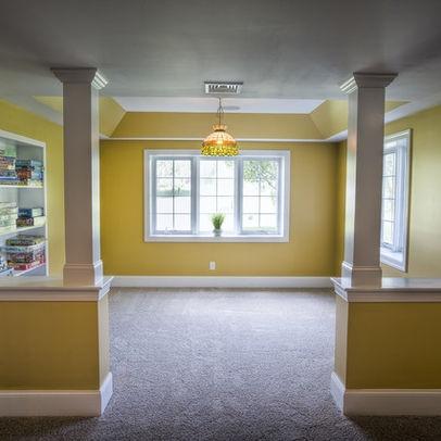 51 best home basements images on pinterest basement for Half basement house plans