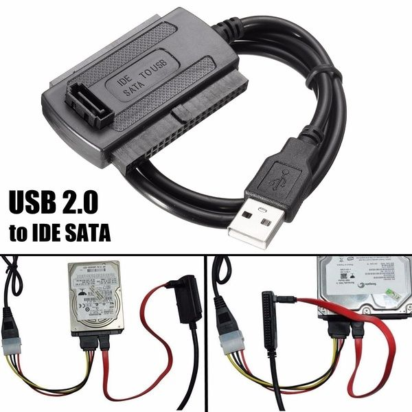 Hd Hdd Hard Drive Adapter Converter Cable Usb 2 0 To Ide Sata 2 5 3 5 5 25inch Power Cable Wish Power Converters Hdd Usb