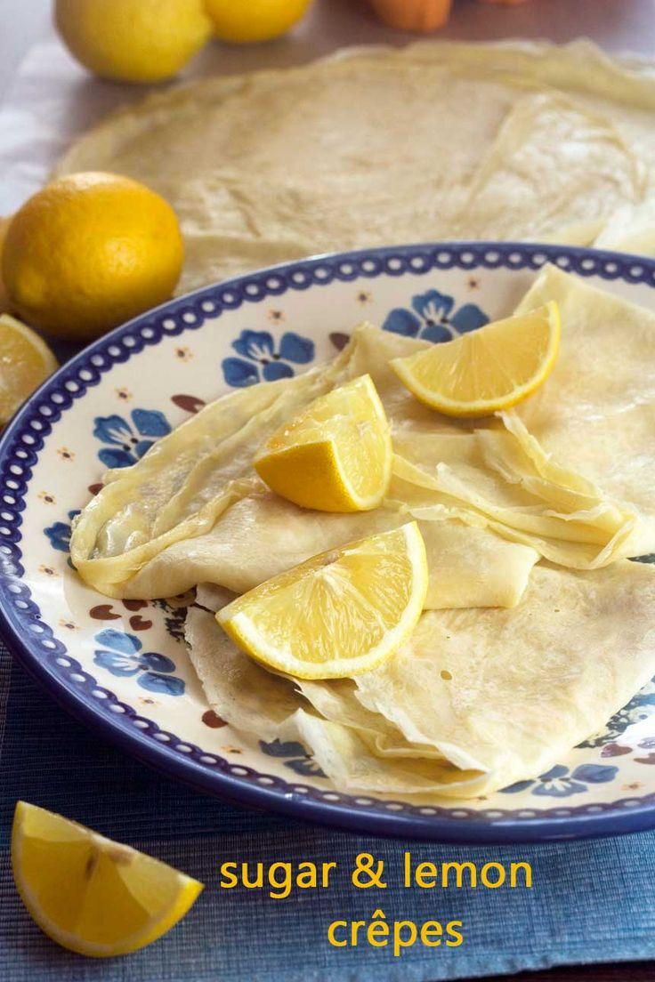 simple and delicious sugar & lemon crêpes
